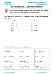 Worksheets for kids - using-multiplication-to-help-with-division-x5