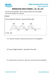 Worksheets for kids - Multiplication-Word-Problems-x2-x5-x10