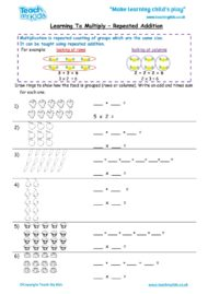 Worksheets for kids - learning-to-multiply-repeated-add1