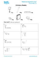 Worksheets for kids - stationary-shopping