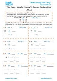 Worksheets for kids - take-away-partition-nos-under-100-2