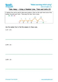 Worksheets for kids - take-away-using-number-line-tu-2
