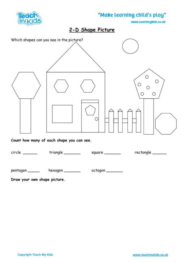 Worksheets for kids - 2d-shape-picture