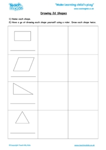 Worksheets for kids - drawing_2d_shapes