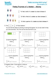 Worksheets for kids - finding_fractions_of_a_number_-_sharing