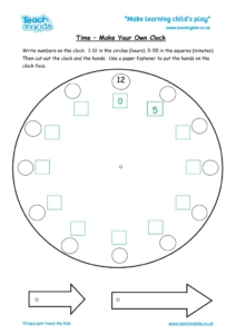 Worksheets for kids - make-a-clock-h-and-m