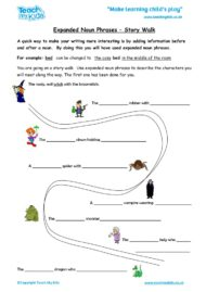Worksheets for kids - expanded_noun_phrases_-_story_walk