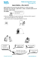 Worksheets for kids - speech-bubbles-who-said-it