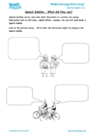 Worksheets for kids - speech-marks-what-did-they-say