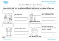 Worksheets for kids - using-speech-bubbles-speech-marks-1