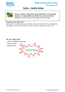 Worksheets for kids - poster-healthy-eating
