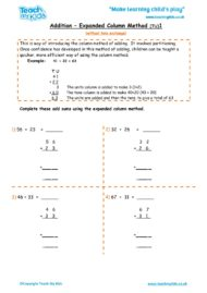 Worksheets for kids - addition-expanded-column-method-1