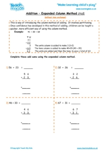Worksheets for kids - addition-expanded-column-method-1