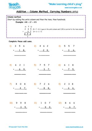 Worksheets for kids - addition,_column_carrying_numbers_htu