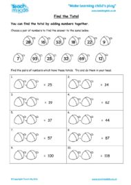 Worksheets for kids - find-the-total