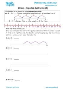 Worksheets for kids - division-repeated-subtraction2