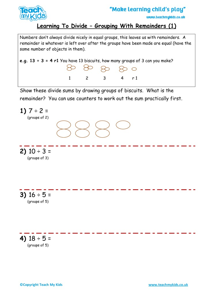 Learning to Divide - Grouping with Remainders (1) - TMK Education