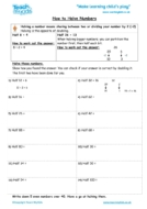 Worksheets for kids - halving-numbers