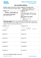 Worksheets for kids - how-to-double-numbers
