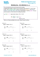 Worksheets for kids - multiplication-grid_method-tu_x_u