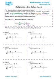 Worksheets for kids - multiplication-grid_method-tu_x_u