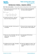 Worksheets for kids - multiplication-problems-repeated-addition