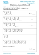 Worksheets for kids - multiplication-repeated-addition-x3