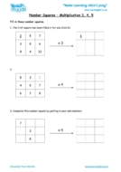 Worksheets for kids - number-squares-multiplication-3-4-5