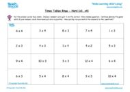 Worksheets for kids - times-tables-bingo-x3-x4