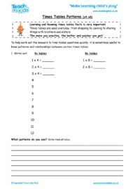 Worksheets for kids - times-tables-patterns-x4-x8