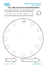 Worksheets for kids - make_a_clock_with_roman_numerals_3