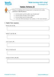 Worksheets for kids - number-patterns-2