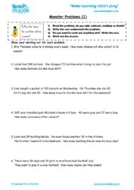 Worksheets for kids - monster_problems_1