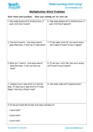 Worksheets for kids - multiplication-word-problems1