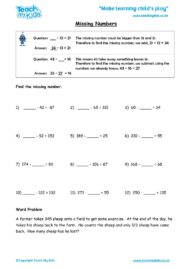 Worksheets for kids - missing-numbers