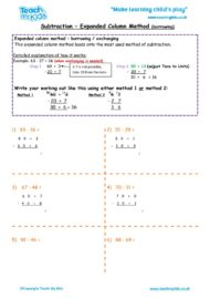 Worksheets for kids - subtraction_-expanded_column_method_borrowing