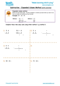 Worksheets for kids - subtraction_-expanded_column_method_extra