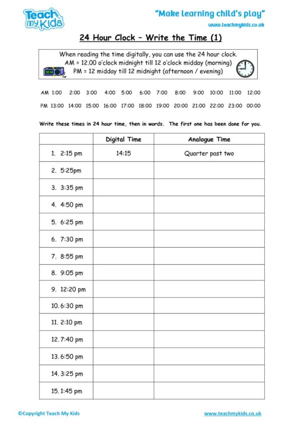 Worksheets for kids - 24_hour_clock_-_write_the_time_1