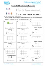 Worksheets for kids - how_to_find_fractions_of_a_number