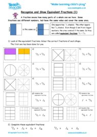 Worksheets for kids - recognise_and_show_equivalent_fractions