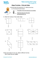 Worksheets for kids - shape_fractions_-_find_and_colour