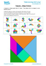 Worksheets for kids - tangram_-_shape_pictures