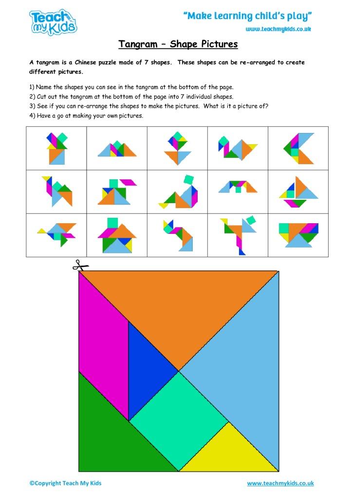 tangram shape pictures tmk education. Black Bedroom Furniture Sets. Home Design Ideas