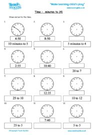 Worksheets for kids - time-minutes_to_4