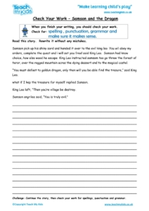 Worksheets for kids - check your work – samson