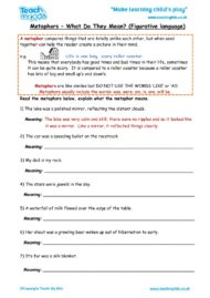 Worksheets for kids - metaphors-what-does-it-mean