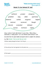 Worksheets for kids - said-words