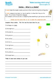 Worksheets for kids - similes-what-is-a-simile