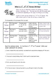Worksheets for kids - what-is-1-2-3-person-writing