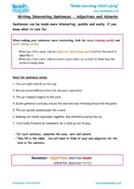 Worksheets for kids - writing-interesting-sentences-adjectives-adverbs